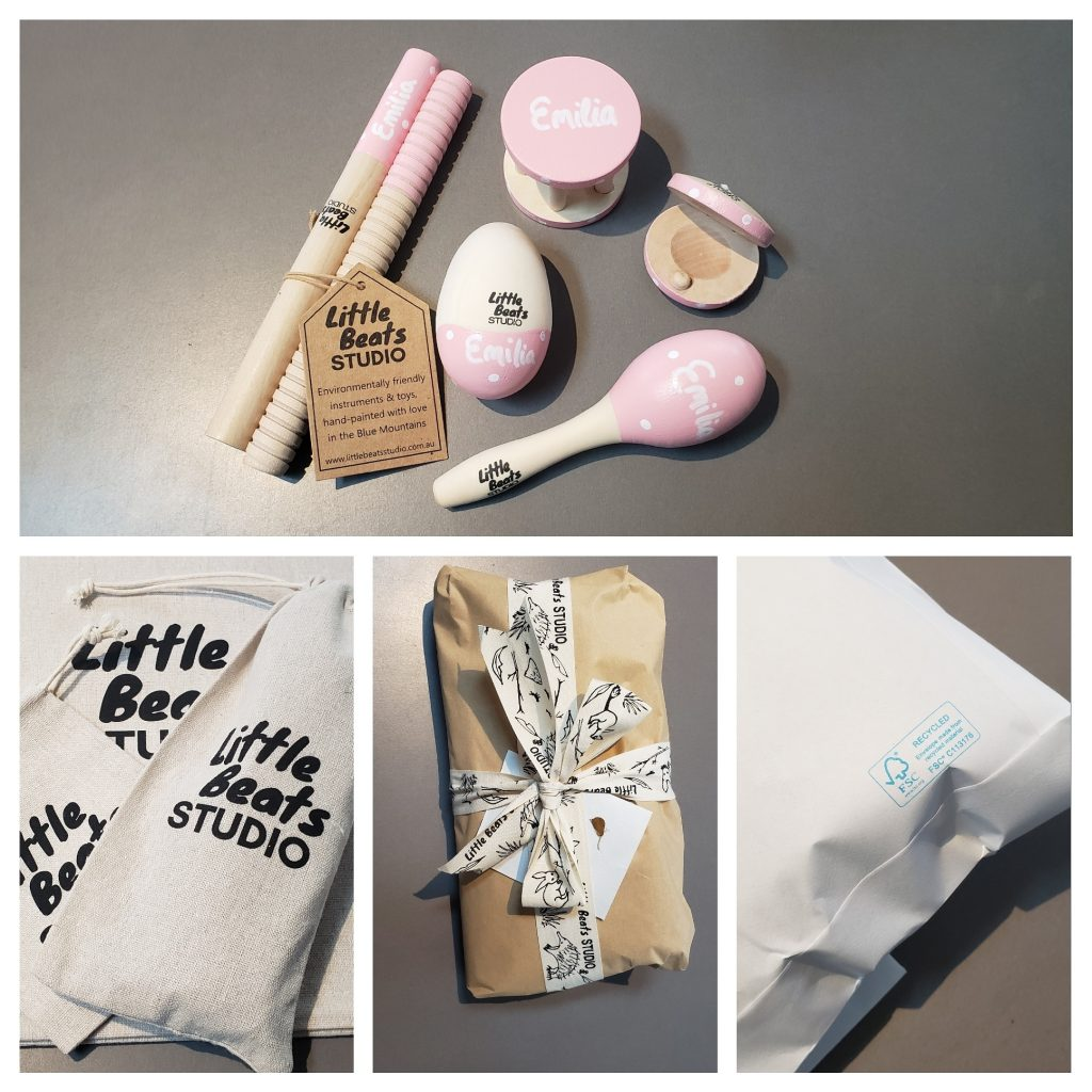 Examples of personalised instruments and gift wrapping